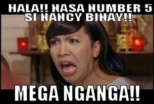 Funny Memes Tagalog 2013 : Netizens quips nancy binay's apparent win nite writer