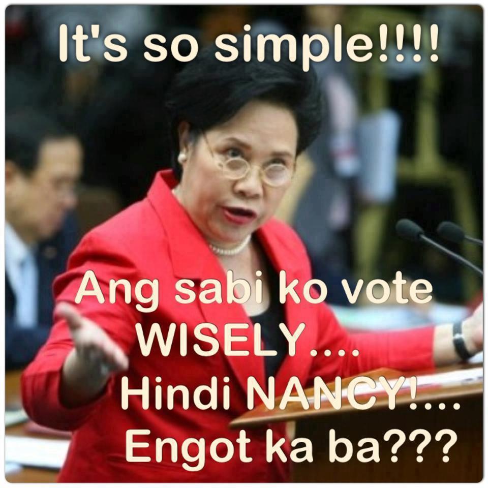 Funny Memes Tagalog 2013 : Netizens quips nancy binay s apparent win nite writer
