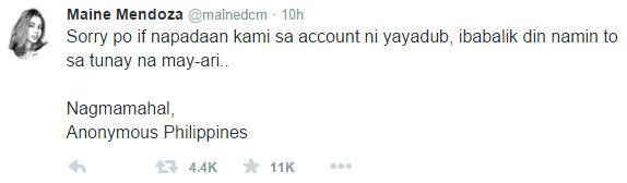 yaya dub hacked twitter