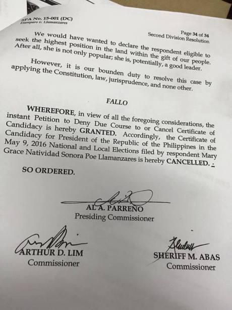gracepoe disqualified