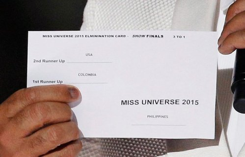 miss universe2015 winners card